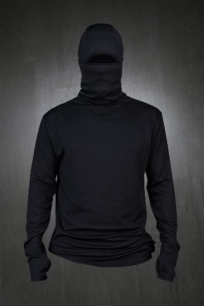 ByTheR Fever Baraklava Men Fashion Long Sleeve Slim Fit Ninja Hoodie with Mask